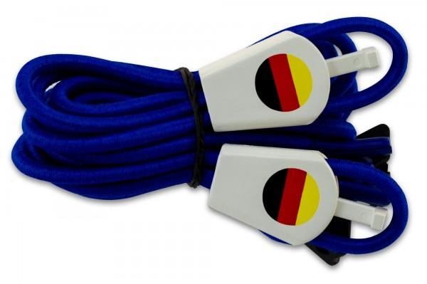 YANKZ-Schnürsystem (Farbe: Royalblau) Deutschlandflagge