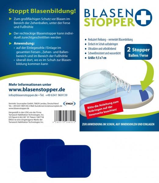 Blasenstopper – 2 Rechteckige Stopper für Ballen/Ferse