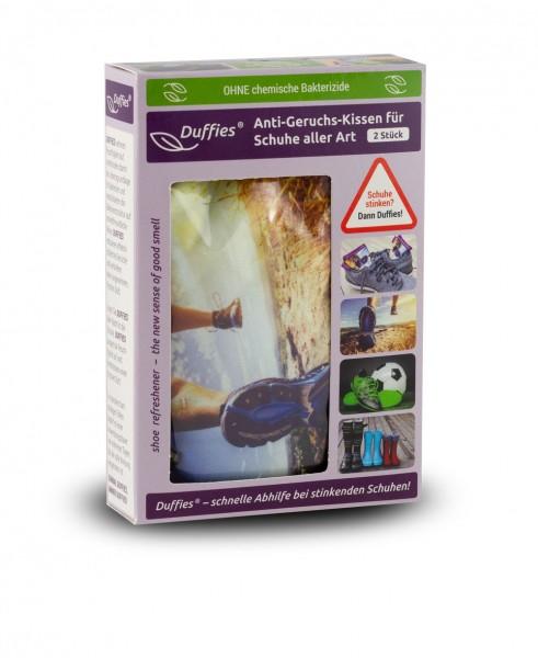 Duffies Anti-Geruchs-Kissen (2 Stk.) für Schuhe, Rücksäcke, Sporttaschen usw.