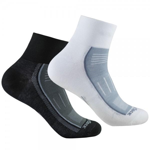 ENDURANCE quarter, doppellagige Socken, knöchelhoch
