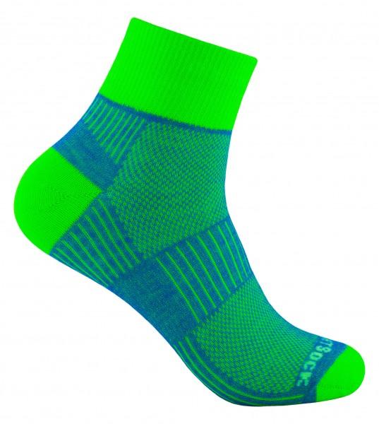 COOLMESH II quarter zweifarbig, doppellagige Socken, knöchelhoch