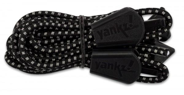 YANKZ-Schnürsystem (Farbe: Reflektierend Schwarz/Weiß)