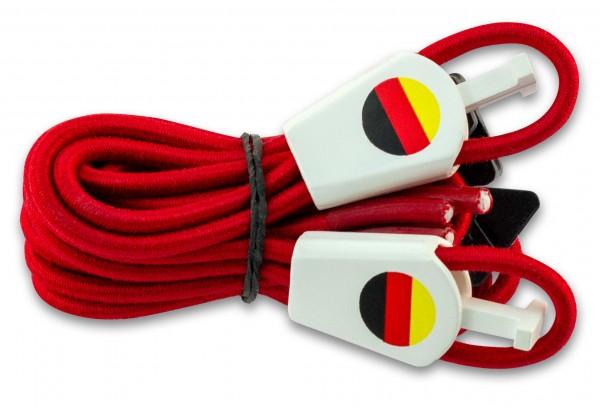 YANKZ-Schnürsystem (Farbe: Rot) Deutschlandflagge