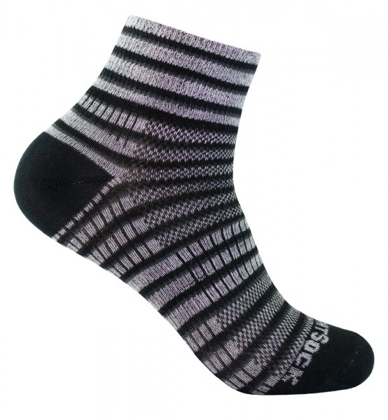 "COOLMESH II quarter ""Ringelsocken"", doppellagige Socken, knöchelhoch"