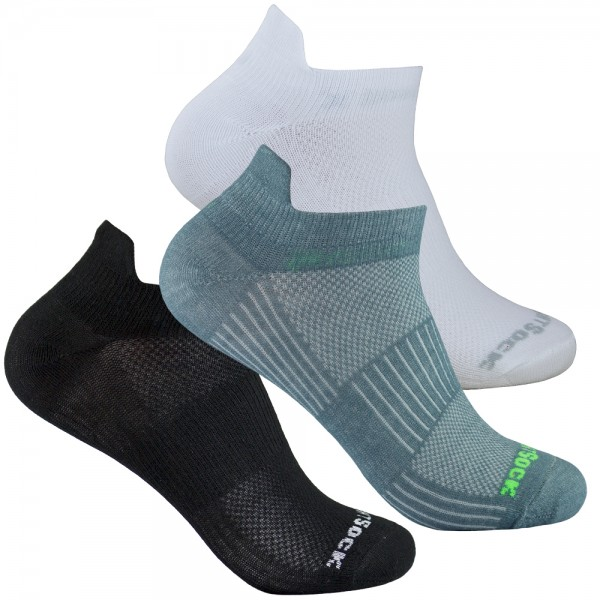 COOLMESH II low tab einfarbig, doppellagige Sneaker Socken