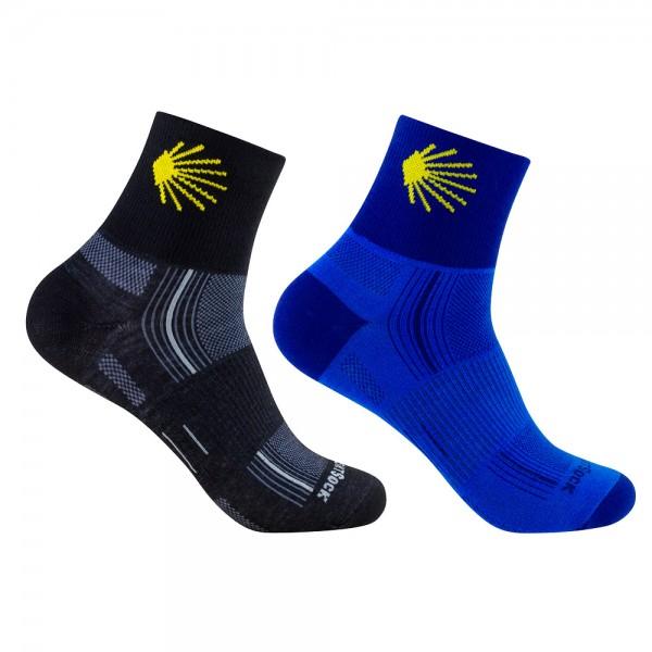 "STRIDE quarter ""Jakobsweg"", doppellagige Socken, knöchelhoch"