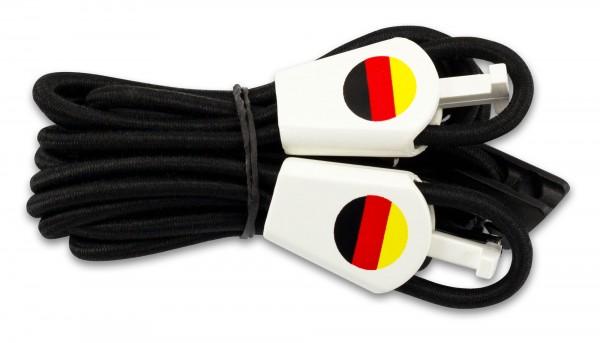 YANKZ-Schnürsystem (Farbe: Schwarz) Deutschlandflagge