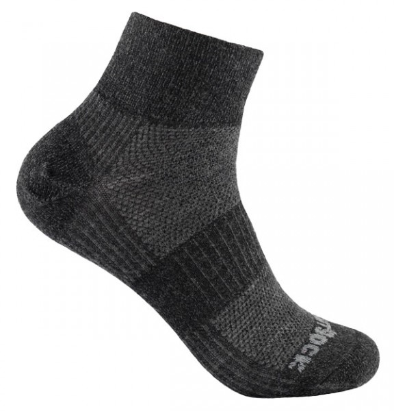 Merino Coolmesh II quarter, doppellagige Socken, knöchelhoch